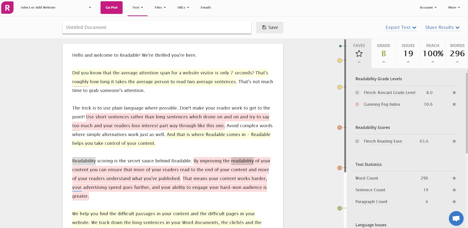 example of edit by readable
