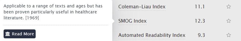 SMOG index