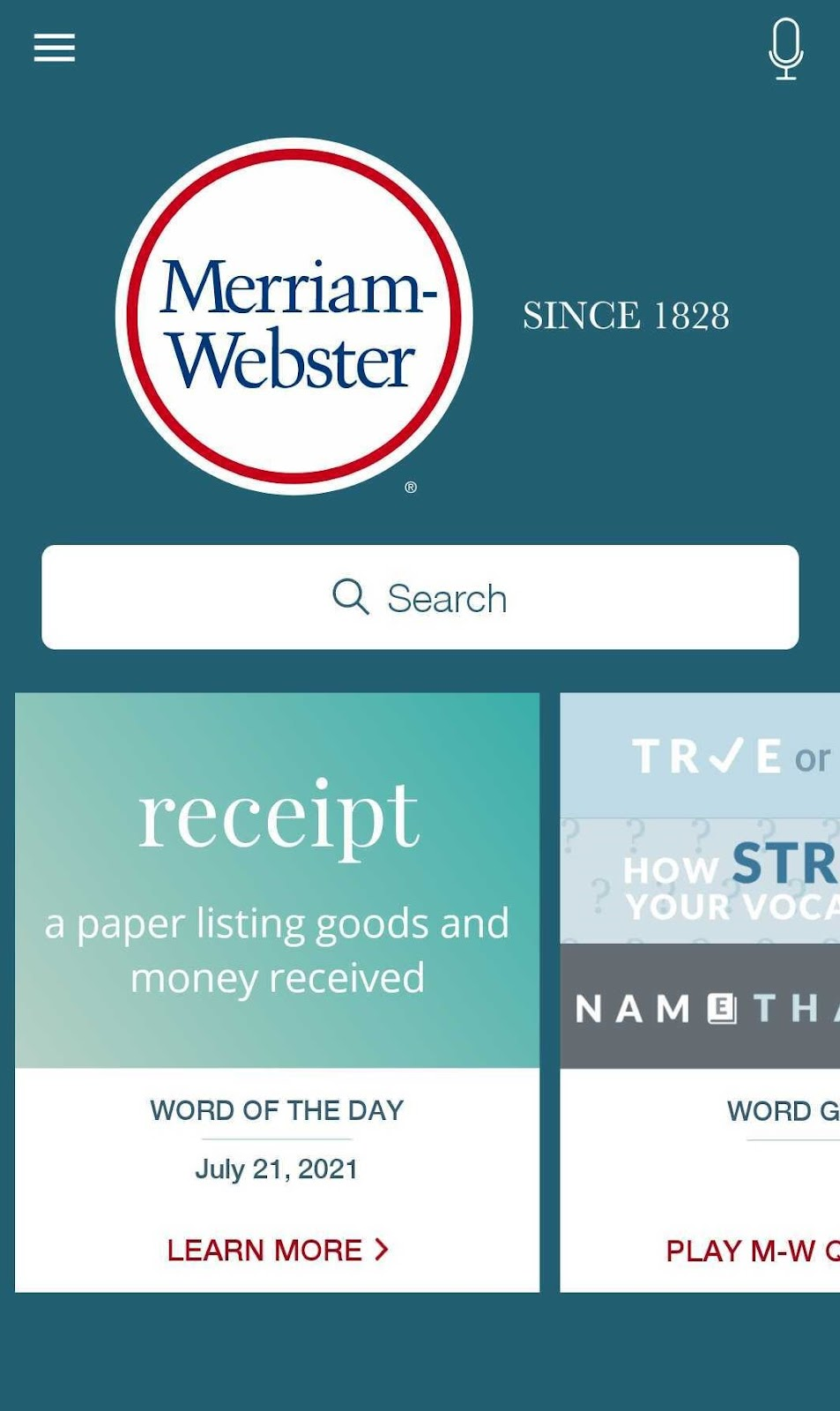 merriam webster dictionary cover