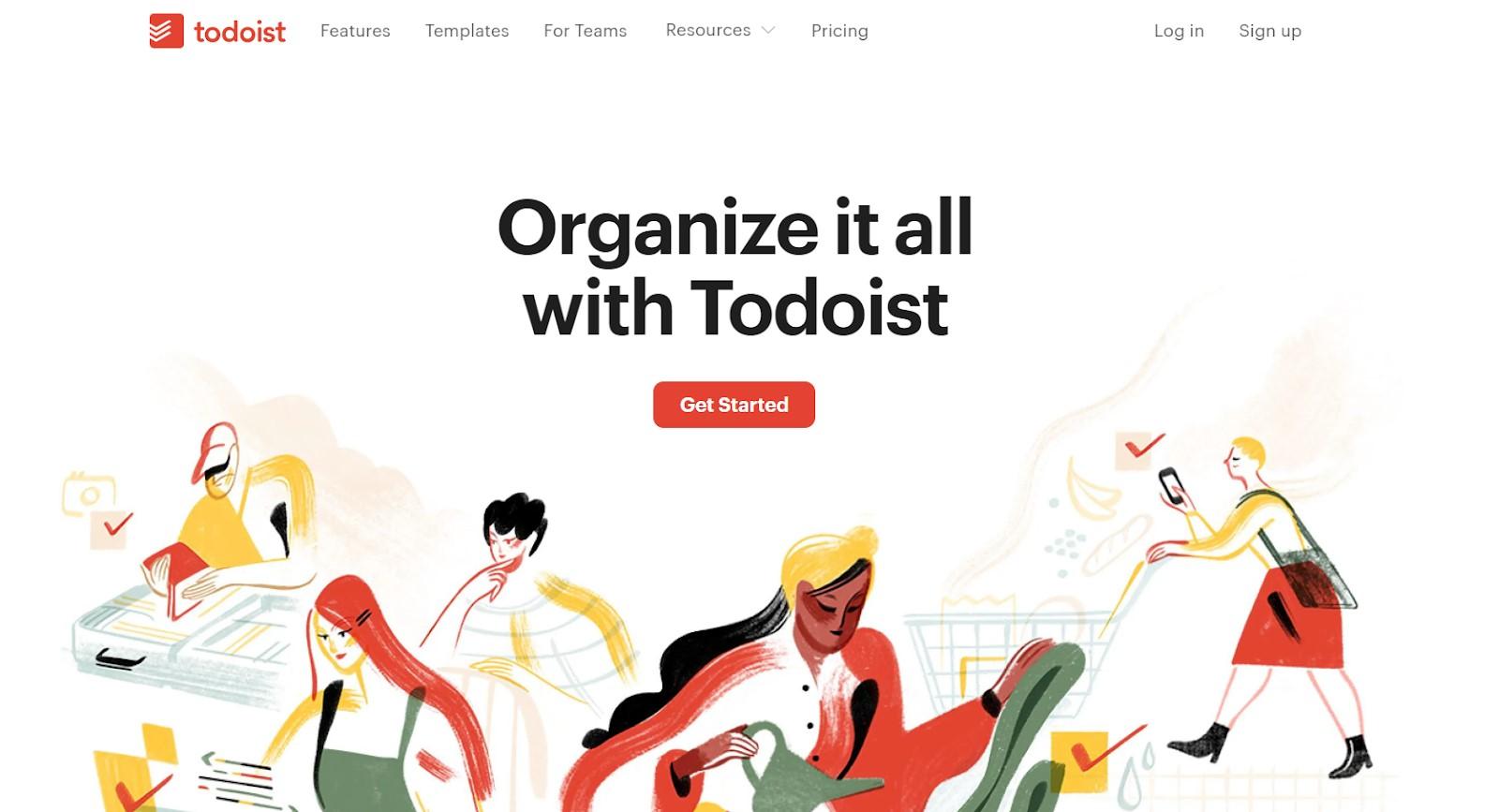 todoist main page screenshot